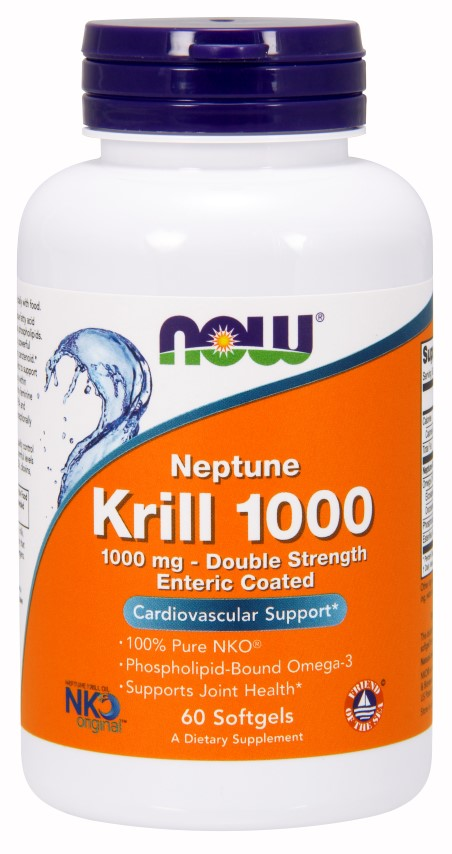 Krill Oil Neptune 1000 mg NOW (60 caps)(EXP 09/2019)