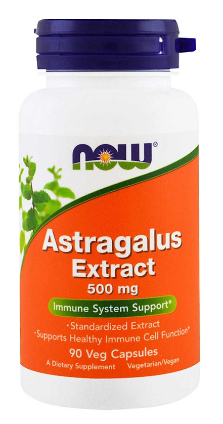Astragalus Extract 500 mg NOW (90 vcaps)