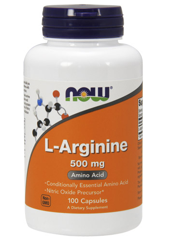 L-Arginine 500 mg NOW (100 cap)