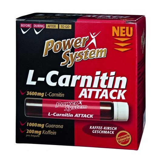 L-Carnitin Attack 3600 Power System (20 ампул x 25 мл)