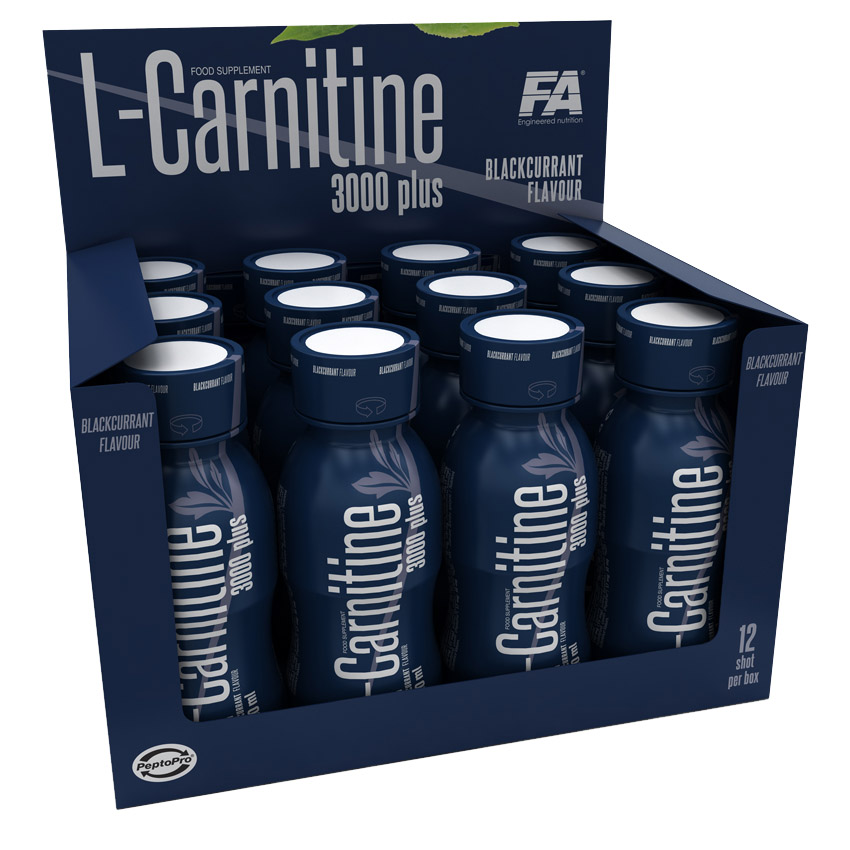 L-Carnitine 3000 plus Fitness Authority (12 x 100 ml)