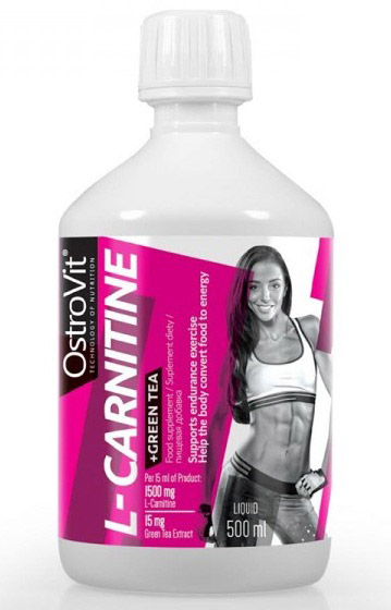L-Carnitine + Green Tea OstroVit (500 мл)(годен до 22/02/2019)