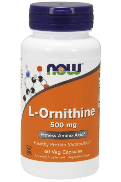 L-Ornithine 500 mg NOW (60 кап)