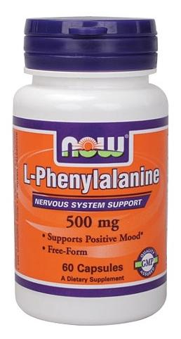 L-Phenylalanine 500 mg NOW (60 caps)
