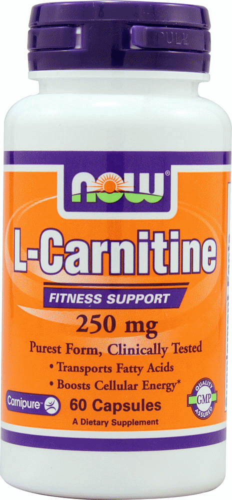 L-Carnitine 250 mg Tartrate-L-Carnipure NOW (60 кап)