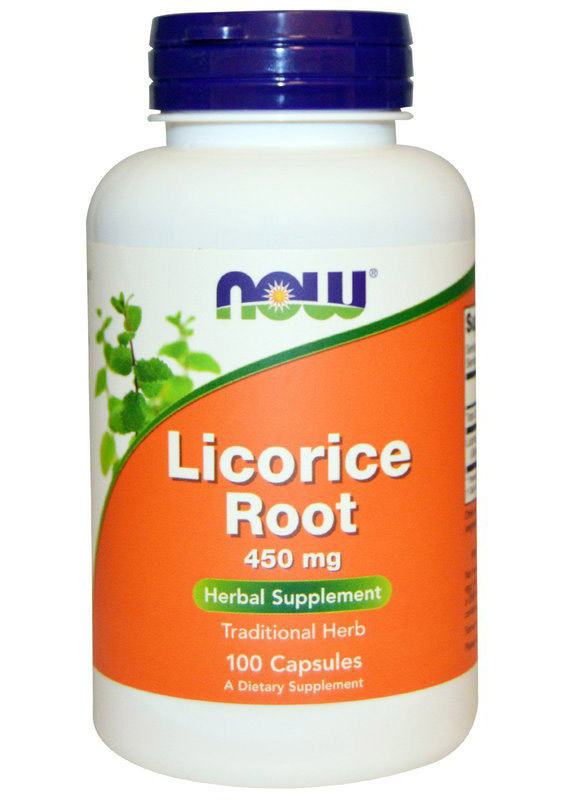 Licorice Root 450 mg NOW (100 Capsules)