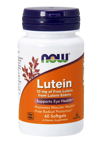Lutein 10 mg NOW (60 гелевых капсул)