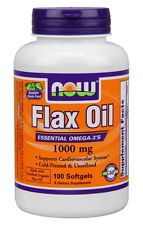 Flax Oil 1000 mg NOW (100 Softgels)