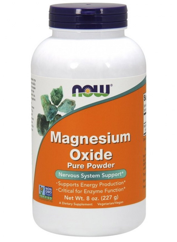 Magnesium Oxide 8 oz NOW (227 гр)