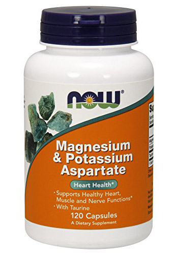 Magnesium & Potassium Aspartate with Taurine NOW (120 кап)
