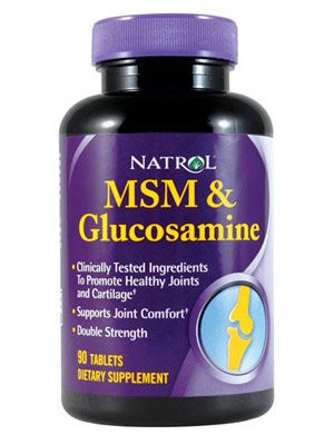 MSM and Glucosamine Natrol (90 таб)(годен до 03/2018)
