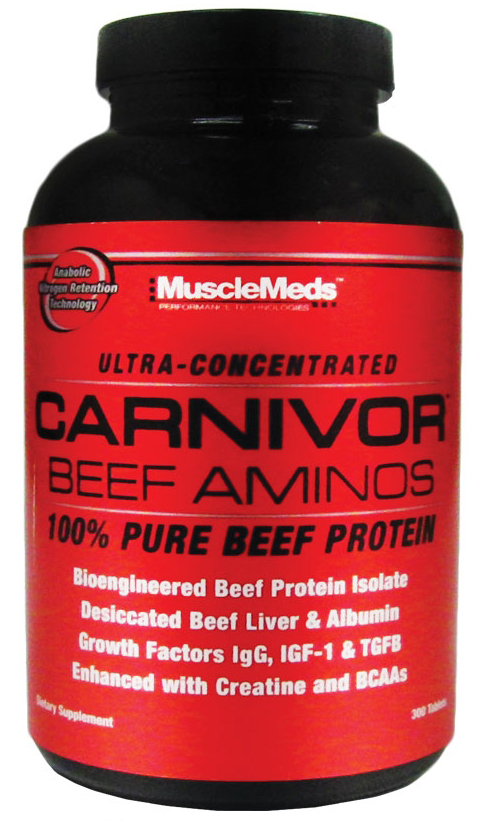 Carnivor Beef Aminos MuscleMeds (300 таб)
