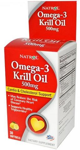 Omega-3 Krill Oil 500 mg Natrol (30 Softgels)