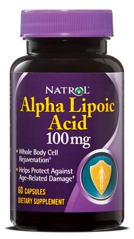 Alpha Lipoic Acid 100 mg Natrol (60 кап)