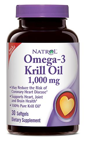 Omega-3 Krill Oil 1000 mg Natrol (30 гель кап)