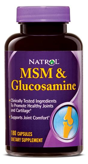MSM and Glucosamine Natrol (180 кап)