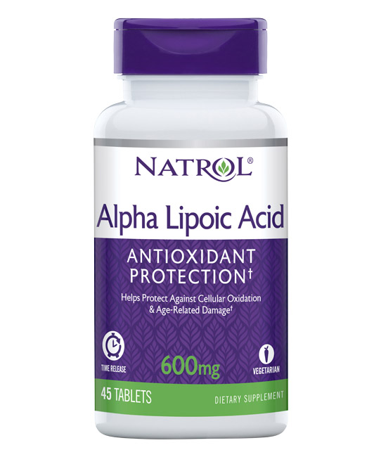 Alpha Lipoic Acid 600 mg Time Release Natrol (45 таб)