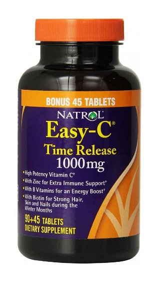 Easy-C 1000 mg Time Release Natrol (90+45 таб)