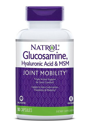 Hyaluronic Acid MSM and Glucosamine Natrol (90 вег кап)