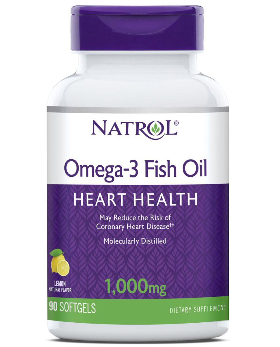 Omega-3 Fish Oil 1000 mg Natrol  (60 softgels)