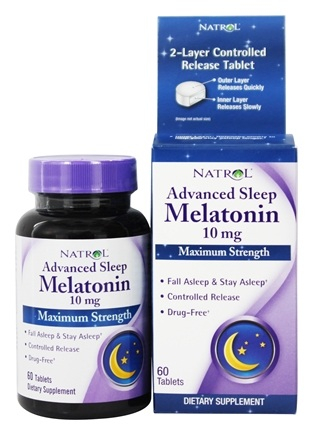 Melatonin Advanced Sleep 10 mg MS Natrol (60 tab)