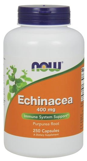 Echinacea 400 mg NOW (250 кап)(годен до 02/2018)