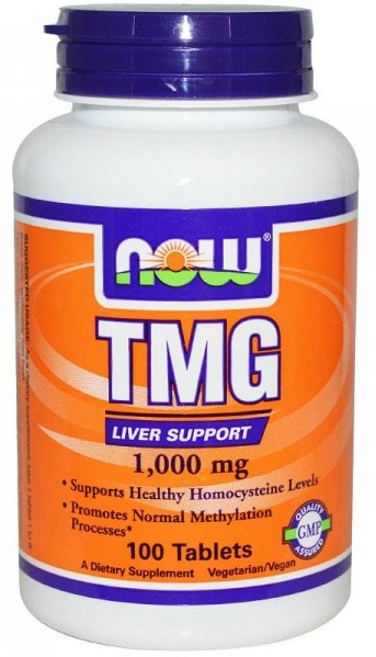 TMG (Trimethylglycine) 1,000 mg NOW (100 tab)