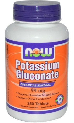 Potassium Gluconate 99 mg Vegetarian NOW (250 tab)