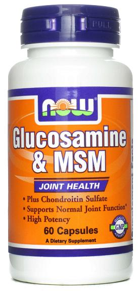 Glucosamine & MSM NOW (60 кап)