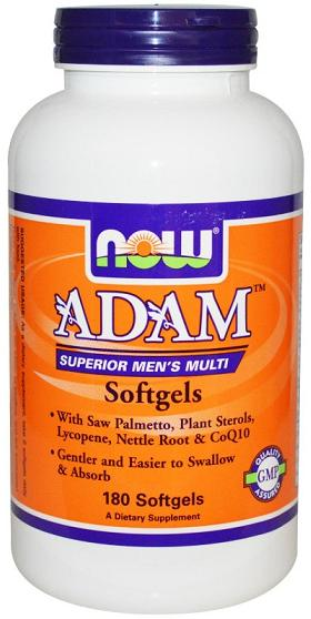ADAM Men's Multiple Vitamin NOW (180 Softgels)