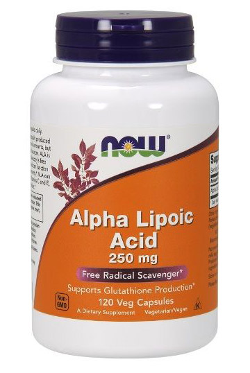 Alpha Lipoic Acid 250 mg NOW (120 Vcaps)