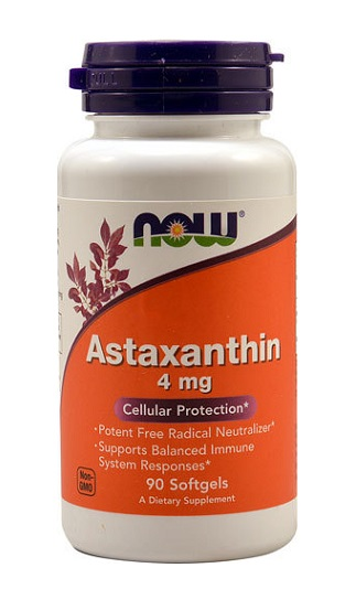 Astaxanthin 4 mg NOW (90 Softgels)