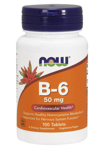 Vitamin B-6 50 mg NOW (100 таб)