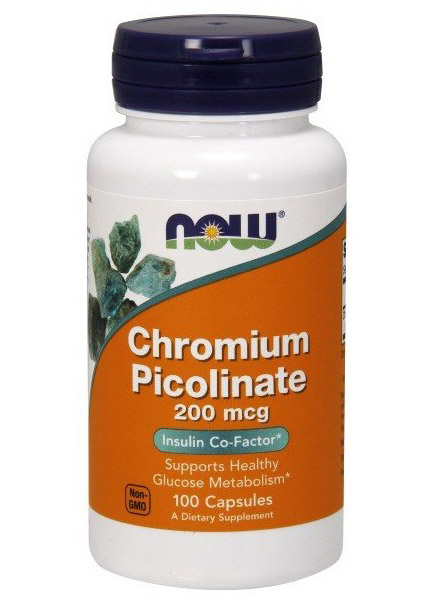 Chromium Picolinate 200 mcg NOW (100 кап)