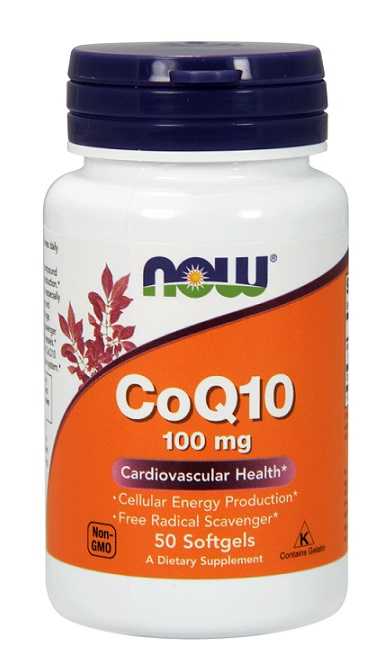 CoQ10 100 mg NOW (50 Softgels)