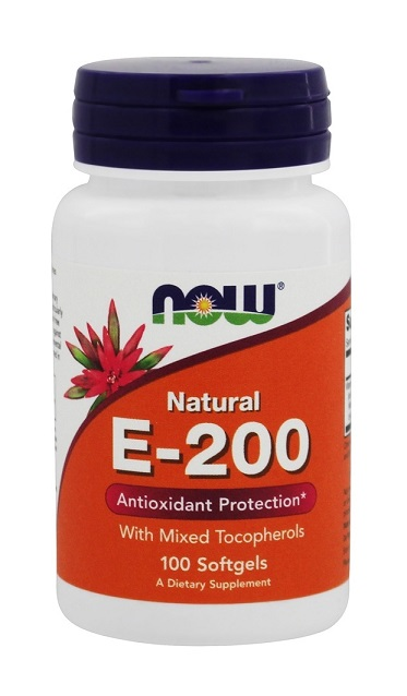 Vitamin E-200 IU Mixed Tocopherols NOW (100 caps)
