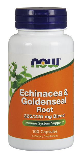 Echinacea & Goldenseal Root NOW (100 caps)