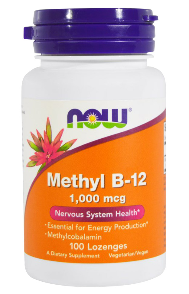 Methyl B-12 1000 mcg NOW (100 жев таб)