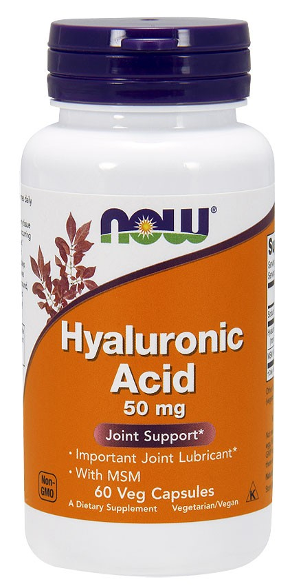Hyaluronic Acid with MSM NOW (60 вег кап)