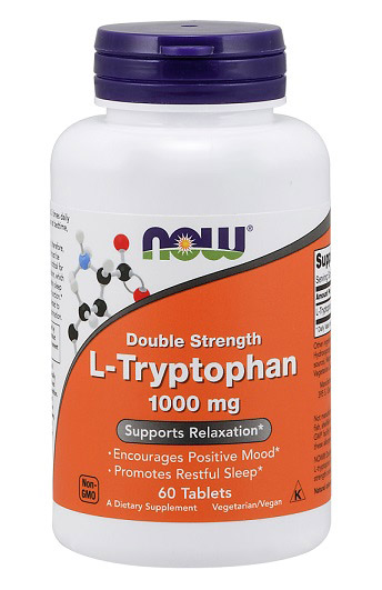 L-Tryptophan 1000 mg NOW (60 таб)