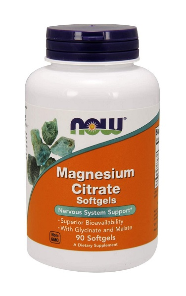Magnesium Citrate 400 mg NOW (90 гель. кап)