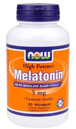 Melatonin 5 mg NOW (60 кап)