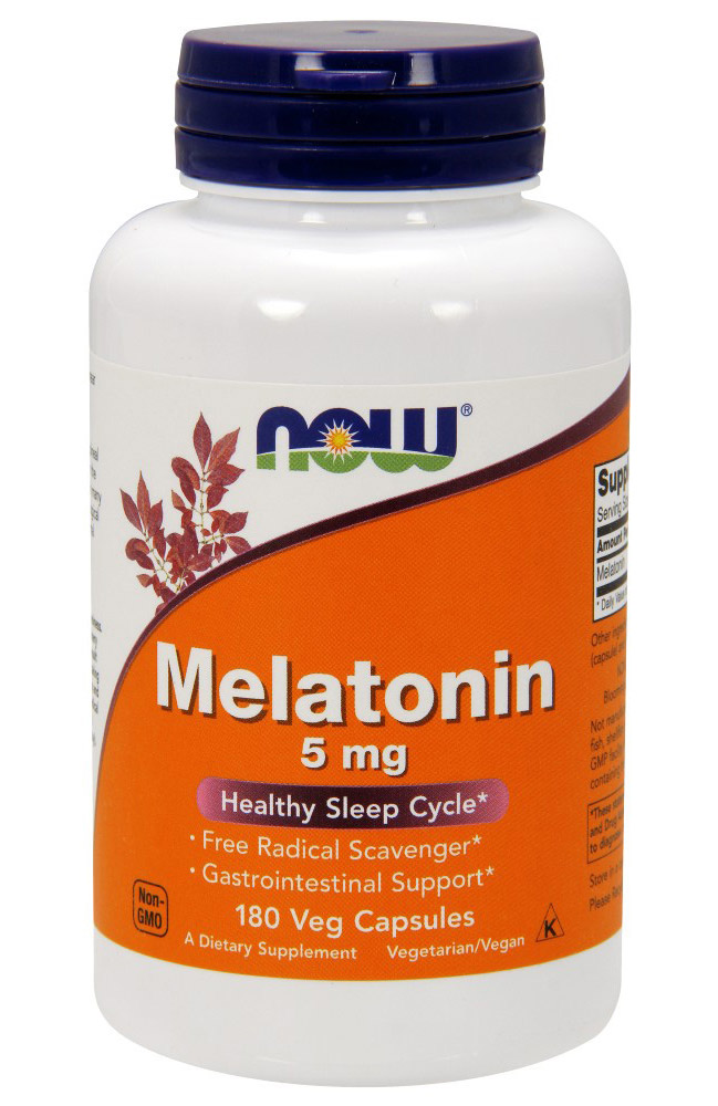 Melatonin 5 mg NOW (180 кап)