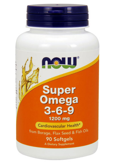Super Omega 3-6-9 1200 mg NOW (90 Softgels)