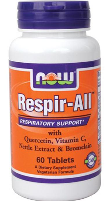 Respir-All (Allergy Support) Vegetarian NOW (60 Tablets)