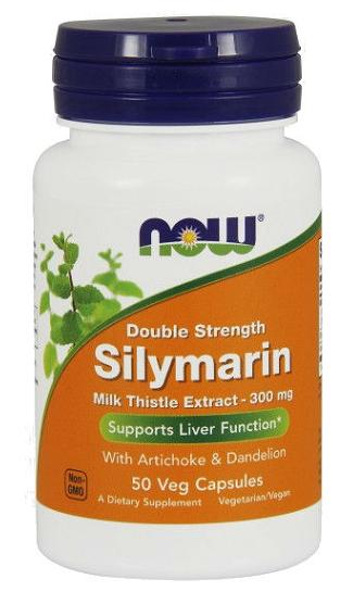 Silymarin 2X 300 mg NOW (50 вег кап)