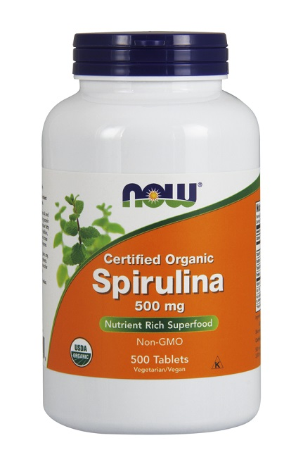 Spirulina 500 mg NOW (500 Tablets)