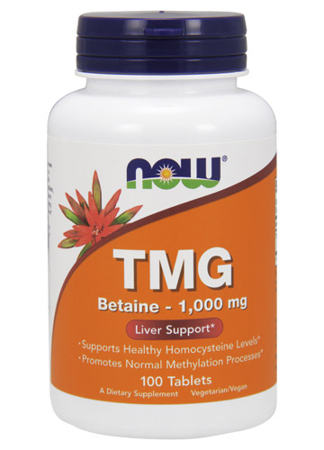 TMG (Trimethylglycine) 1,000 mg NOW (100 таб)