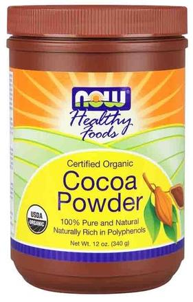 Cocoa Powder Certified Organic 12 oz NOW (340 гр)(годен до 10/17