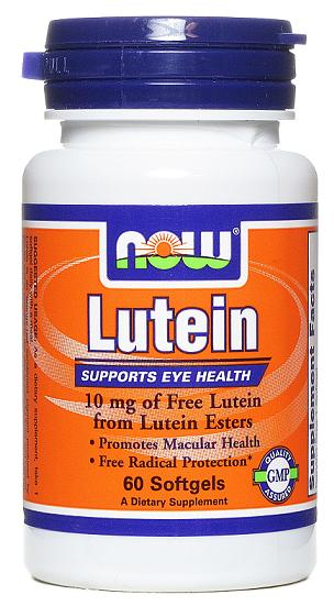 Lutein 10 mg NOW (60 Softgels)